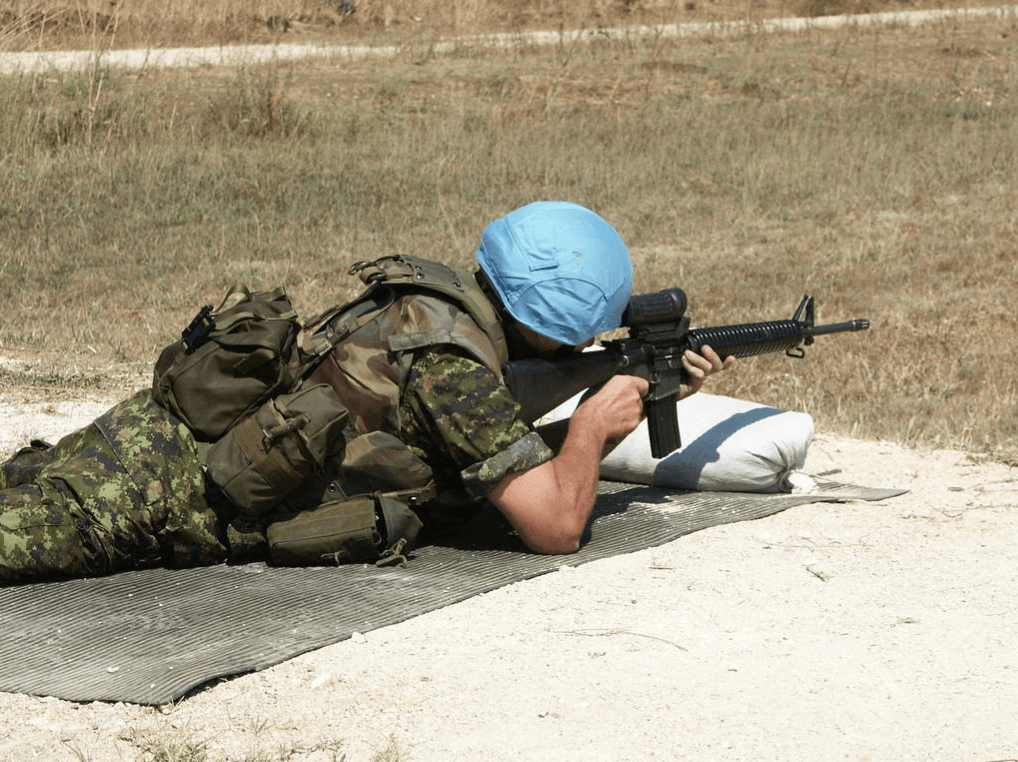 A UN soldier in the conflict