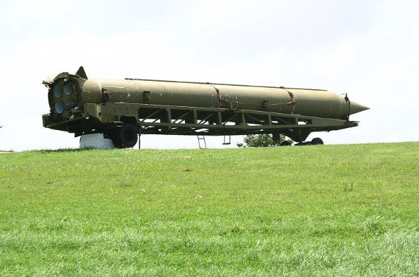 A nuclear warhead being transported.