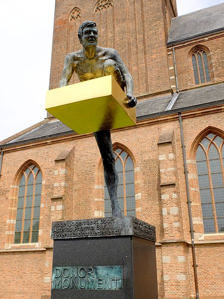 The National Donor Monument in the Netherlands